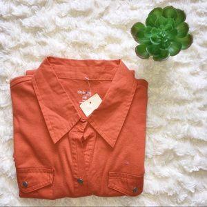 (NWT) Style and Co. Orange Sleeveless Top